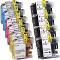 Compatible Brother LC107 / LC105 XXL (10-pack) Ink Cartridges