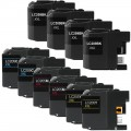 Compatible Brother LC209 / LC205 XXL (10-pack) Ink Cartridges