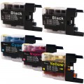 Compatible Brother LC75 (5-pack) HY Ink Cartridges