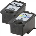 Replacement Canon PG-210XL / CL-211XL (2-pack) Ink Cartridges