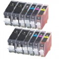 Compatible Canon PGI-5BK / CLI-8 (12-pack) Ink Cartridges
