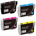 Remanufactured Epson 288 T288 (4-pack) Ink Cartridges