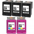 Replacement HP 65XL (5-pack) HY Ink Cartridges