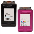 Replacement HP 60XL (2-pack) HY Ink Cartridges