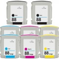 Replacement HP 88XL (8-pack) HY Ink Cartridges