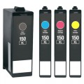 Compatible Lexmark 150XL (4-pack) HY Ink Cartridges