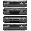 Replacement HP 35A / CB435A (4-pack) Black Toner Cartridges