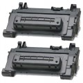 Replacement HP 64A / CC364A (2-pack) Black Toner Cartridges