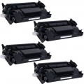 Replacement HP 26X / CF226X (4-pack) HY Black Toner Cartridges