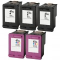 Replacement HP 61XL (5-pack) HY Ink Cartridges