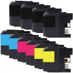 Brother LC203 Compatible (10-pack) High Yield Ink Cartridges (4x Black, 2x Cyan, 2x Magenta, 2x Yellow)