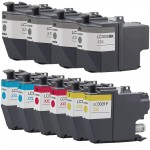 Compatible Brother LC3029 Ink Cartridges Combo Pack 10 - Super High Yield - 4x Black, 2x Cyan, 2x Magenta, 2x Yellow