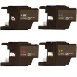 Brother LC75 Compatible (4-pack) High Yield Ink Cartridges (1x Black, 1x Cyan, 1x Magenta, 1x Yellow)