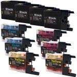Brother LC79 Compatible (10-pack) Super High Yield Ink Cartridges (4x Black, 2x Cyan, 2x Magenta, 2x Yellow)