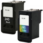 Canon PG-240 Black & CL-241 Color Replacement (2-pack) Ink Cartridges (1x Black, 1x Color)