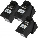 Canon PG-240XL Black & CL-241XL Color Replacement (3-pack) High Yield Ink Cartridges (2x Black, 1x Color)