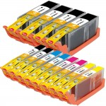 Canon PGI-250XL / CLI-251XL Compatible (12-pack) High Yield Ink Cartridges (4x Pigment Black, 2x Black, 2x Cyan, 2x Magenta, 2x Yellow)
