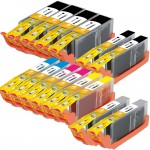 Canon PGI-250XL / CLI-251XL Compatible (14-pack) High Yield Ink Cartridges (4x Pigment Black, 2x Black, 2x Cyan, 2x Magenta, 2x Yellow, 2x Gray)