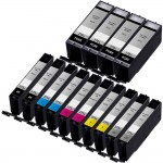 Canon PGI-270XL / CLI-271XL Compatible (14-pack) High Yield Ink Cartridges (4x Pigment Black, 2x Black, 2x Cyan, 2x Magenta, 2x Yellow, 2x Gray)