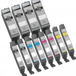 Canon PGI-280XXL / CLI-281XXL Compatible (12-pack) Super High Yield Ink Cartridges (4x Pigment Black, 2x Black, 2x Cyan, 2x Magenta, 2x Yellow)