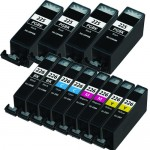 Canon PGI-225 / CLI-226 Compatible (12-pack) Ink Cartridges (4x Pigment Black, 2x Black, 2x Cyan, 2x Magenta, 2x Yellow)