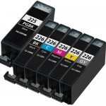 Canon PGI-225 / CLI-226 Compatible (6-pack) Ink Cartridges (1x Pigment Black, 1x Black, 1x Cyan, 1x Magenta, 1x Yellow, 1x Gray)