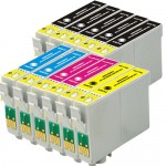 Epson 68 T068 Series (11-pack) Replacement High Yield Ink Cartridges (5x Black, 2x Cyan, 2x Magenta, 2x Yellow)