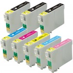 Epson 79 T079 Series (8-pack) Replacement High Yield Ink Cartridges (3x Black, 1x Cyan, 1x Magenta, 1x Yellow, 1x Light Cyan, 1x Light Magenta)