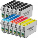 Epson 126 T126 Series (11-pack) Replacement High Yield Ink Cartridges (5x Black, 2x Cyan, 2x Magenta, 2x Yellow)
