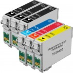 Replacement Epson 126 Ink Cartridge Combo Pack of 6 - High Yield - (3x Black, 1x Cyan, 1x Magenta, 1x Yellow)