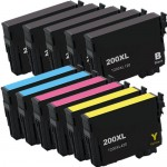 Epson 200XL Ink Cartridges (Replacement) - High Yield - Combo Pack of 11 - (5x Black, 2x Cyan, 2x Magenta, 2x Yellow)