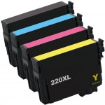 Epson 220XL T220XL Series (4-pack) Remanufactured High Yield Ink Cartridge (1x Black, 1x Cyan, 1x Magenta, 1x Yellow)