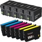 Epson 252XL T252XL Series (11-pack) Replacement High Yield Ink Cartridge (5x Black, 2x Cyan, 2x Magenta, 2x Yellow)