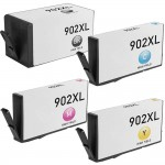 HP 902XL Combo Pack of 4 High Yield Replacement Ink Cartridges (1x Black, 1x Cyan, 1x Magenta, 1x Yellow)