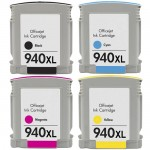 HP 940XL (4-pack) High Yield Replacement Ink Cartridges (1x Black, 1x Cyan, 1x Magenta, 1x Yellow)