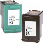 HP 98 / C9364WN Black & HP 93 / C9361WN Color (2-pack) Replacement Ink Cartridges (1x Black, 1x Color)