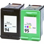 HP 94 / C8765WN Black & HP 95 / C8766WN Color (2-pack) Replacement Ink Cartridges (1x Black, 1x Color)