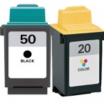Lexmark 50 / 17G0050 Black & Lexmark 20 / 15M0120 Color (2-pack) Replacement Ink Cartridges (1x Black, 1x Color)