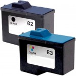 Lexmark 82 / 18L0032 Black & Lexmark 83 / 18L0042 Color (2-pack) Replacement Ink Cartridges (1x Black, 1x Color)