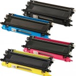 Brother TN210 (4-pack) Compatible Laser Toner Cartridges (1x Black, 1x Cyan, 1x Magenta, 1x Yellow)
