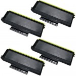Brother TN580 (4-Pack) Compatible High Yield Black Laser Toner Cartridges
