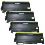 Brother TN650 (4-pack) Compatible High Yield Black Laser Toner Cartridges