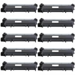 Brother TN660 (10-pack) Compatible High Yield Black Laser Toner Cartridges