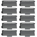 Brother TN750 (10-pack) Compatible High Yield Black Laser Toner Cartridges