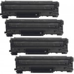 Canon 128 (4-pack) Replacement Black Laser Toner Cartridges (3500B001AA)
