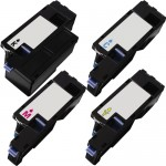 Compatible (4-pack) High Yield Toner Cartridges for Dell 1250 (1x Black, 1x Cyan, 1x Magenta, 1x Yellow)