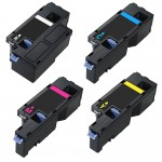 Compatible (4-pack) Toner Cartridges for Dell E525W (1x Black, 1x Cyan, 1x Magenta, 1x Yellow)