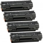HP 36A / CB436A (4-pack) Replacement Black Laser Toner Cartridges