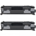 HP 05A / CE505A (2-pack) Replacement Black Laser Toner Cartridges