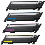 Replacement (4-pack) CLT-406S for Samsung Laser Toner Cartridges (1x Black, 1x Cyan, 1x Magenta, 1x Yellow)